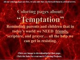 Free Bible Coloring Pages For Children Verses About Temptation