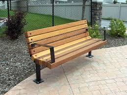 Plans To Build A Wooden Park Bench by Patio Bench Plans Treenovation