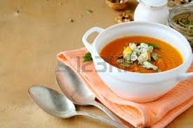 Pumpkin Soup Tureen And Bowls by Pumpkin Soup In A White Tureen Food Top View Stock Photo Picture