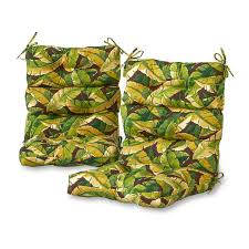 High Back Patio Chair Cushions by Greendale Home Fashions Palm Leaves High Back Outdoor Lounge Chair