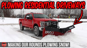 100 How To Plow Snow With A Truck Ing Nd Clearing Our Residential Driveways More Ing Footage