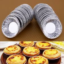 details zu 100x einweg aluminiumfolie kuchen plätzchen pudding eier muffin törtchen cup