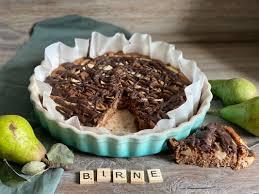 birnen nuss kuchen rezept mit schokolade milch mehr