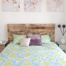 recycled pallet wood headboard or bed from KaseCustom on Etsy