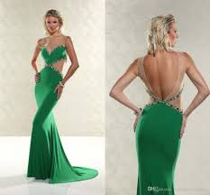 xtreme lime green mermaid prom dresses 2015 bling formal gowns