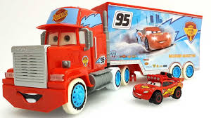 Disney Pixar Mack Truck Hauler Disney Cars Lightning McQueen And Ice ...