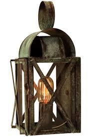 bunker hill colonial copper lantern outdoor wall light