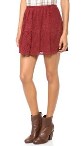 madewell lace pleated miniskirt dusty burgundy in red lyst