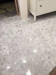 marble hexagon backsplash tile