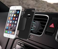 Air Vent Smartphone Car Mount w Magnetic 1 Step Mounting
