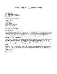 Administrative Coordinator Cover Letter Sample Administrative