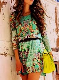 Cute Summer Dresses Tumblr Floral Print Belted Dress Justice Pinterest Picture
