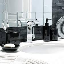 schwarzes keramik badeset seifenspender onyx kollektion 4