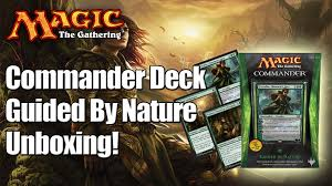 Mtg Commander Decks 2014 by Mtg Guided By Nature Commander Deck 2014 Unboxing U0026 Review Youtube