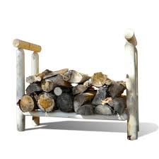 homemade 4 log diy outdoor firewood rack storage for patio in the