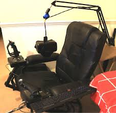 DIY VR: Build Your Own Virtual Reality Chair - UploadVR Custom Gaming Chair Mod Building A Diy Flightdriving Sim Pit On Budget Vrspies 8 Ways To Stop Your From Rolling Rig 8020 Alinum No Cutting Involved Simracing Brilliant Diy Desk Pc Modern Design Models Homemade Big Tv Pc Gaming Chair Youtube How Build Pcps3xbox Racing Wheel Setup In Nohallerton North Chairs Light Brown Fniture Jummico X Rocker Mission A Year Of Pc With Standing Desk Gamer F1 Seat