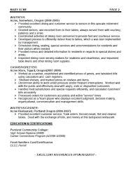 Waitress Objective Example Of Resume Waiter Examples