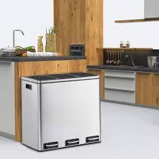 mülleimer 54 l abfalleimer 3x18 l abfallsammler abfallentsorgung küche mit absenkautomatik mülltrennung mülltrennsysteme 3 fach inneneimer mit