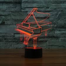 piano 3d optical led illusion l leez
