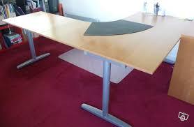 bureaux d occasion bureau d angle modulable coloris hêtre occasion