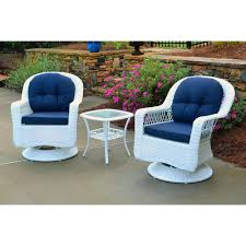 Tortuga Outdoor Biloxi White 3-Piece Wicker Outdoor Bistro Set With Navy  Cushions Americana Wicker Bistro Table And Chairs Set Plowhearth Royalcraft Cannes Brown Rattan 3pc 2 Seater Cube Breakfast Ceylon Outdoor 3piece By Christopher Knight Home Hampton Bay Aria 3piece Balcony Patio Sirio Valentine Swivel Ellie 3 Piece Folding Fniture W Round In Dark Outdoor Cast Alinium Rattan Ding Sets Georgina With Cushions Wilko Effect