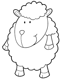 Cartoon Sheep For Children Coloring Page