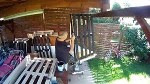 fabrication canapé palette bois canapé en palettes