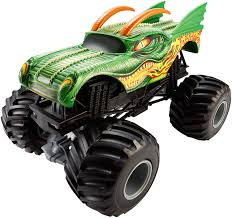 100 Hot Wheels Monster Truck Toys Jam 124 Scale Dragon Vehicle Amazonco
