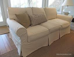 Cindy Crawford Denim Sofa by Lovable Sofa Slip Cover With Washable Natural Denim Slipcovers For