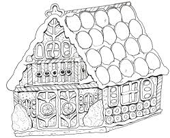 Coloring Pages Gingerbread House 100 Images 118 Best