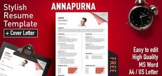 Annapurna Stylish Resume Template