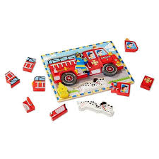 MELISSA AND DOUG - FIRE TRUCK CHUNKY PUZZLE - Puzzles - SHOP BY CATEGORY Sound Puzzles Melissa Doug 3d Stacking Emergency Vehicles Refighter Truck Melissa And Doug Kids Play Pretend Toys Dillards Around The Fire Station Puzzle R Us Canada Solar System Space Radar Find More And Firetruck Makes Noise For Sale Doug Wooden Fire Games Compare Prices The At John Lewis Partners Disney Baby Mickey Mouse Friends Wooden Truck 100 Pieces Ktpuzz9 Colorful Fish Peg Personalized Miles Kimball Memtes Electric Toy With Lights Sirens Sounds