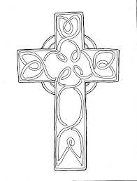 Beautiful Catholic Cross Coloring Page