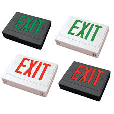 capable led exit sign battery backup exit sign led remote