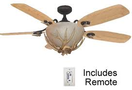 Mesa Vista Rustic Ceiling Fan With Antler Light