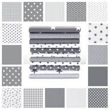 Grey And White Chevron Fabric Uk by Stars Grey And White Cotton Fabric By The Metre Ex Wide Nursery