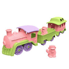 Amazon.com: Green Toys Train, Pink/Green: Toys & Games