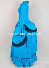 Custom Noble Blue Vintage 1800s Medieval Renaissance Gothic Victorian Ball Gown Marie Antoinette Dress Party