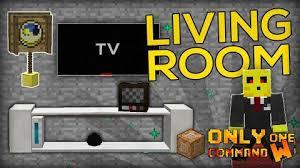living room furnitures command block file minecraft