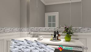 Easy Bathroom Peel And Stick Backsplash Tile Ideas | Clever Mosaics Bathroom Vanity Backsplash Alternatives Creative Decoration Styles And Trends Bath Faucets Great Ideas Tather Eertainments 15 Glass To Spark Your Renovation Fresh Santa Cecilia Granite Backsplashes Sink What Are Some For A Houselogic Tile Designs For 2019 The Shop Transform With Peel Stick Tiles Mosaic Pictures Tips From Hgtv 42 Lovely Diy Home Interior Decorating 1