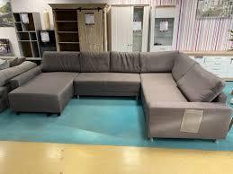 wohnlandschaft sofa eckgarnitur grau braun statt 1199
