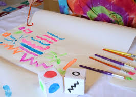 Paint By Dice Process Art Painting Activity For Toddlers Preschoolers Kindergarten Or
