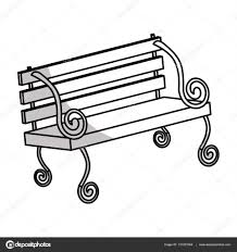 Park Bench Drawing Beautiful Park Bench Icon Image Stock Vector