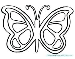 Butterfly Wings Coloring Pages Seasonal Colouring Butterflies Kids