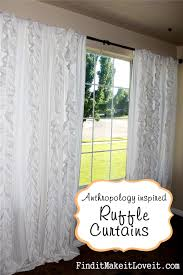 Pink Ruffled Window Curtains by Ruffle Curtains Tutorial Find It Make It Love It