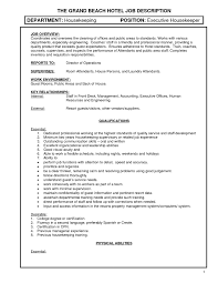 Front Desk Cover Letter Hotel housekeeping duties resume resume housekeeping cover letter for
