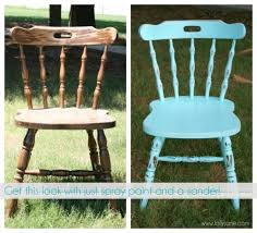 how to distress furniture with spray paint and a sander
