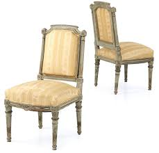 louis xvi chair antique pair of antique gray painted louis xvi side chairs 19th