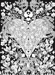 Dover Publications Creative Haven Hearts Coloring Book Romantic Designs On A Dramatic Black Background