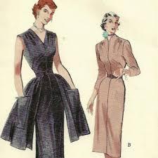 Vintage 50s Butterick 5684 Glamorous Sheath Dress Pattern Size 12 B 30 Uncut